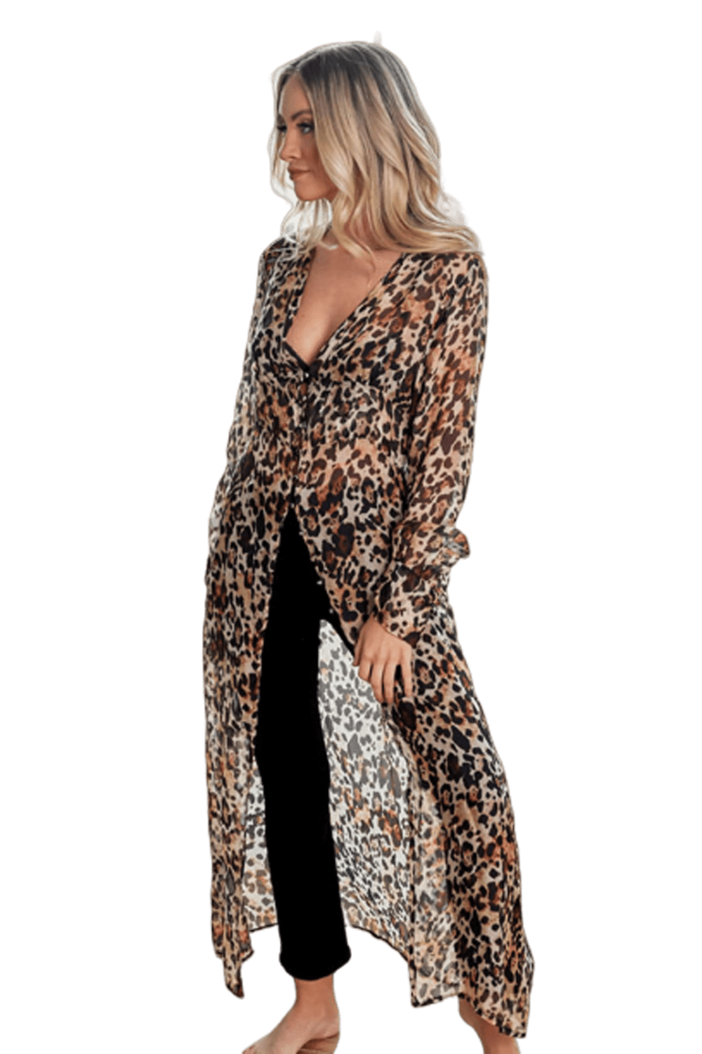 shop-sofia ANDY LEOPARD PRINT Sofia Collections Italian Silk Linen Satin