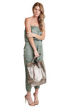 shop-sofia Handbags Angeline Snake Print Shopper Bag Sofia Collections Italian Silk Linen Satin