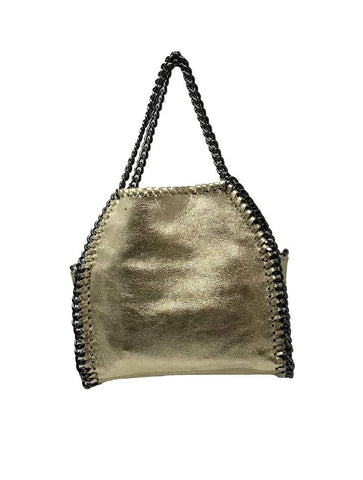 shop-sofia Ashley Gold CrossBody Bag Sofia Collections Italian Silk Linen Satin