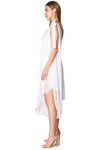 shop-sofia Athena White Dress Sofia Collections Italian Silk Linen Satin