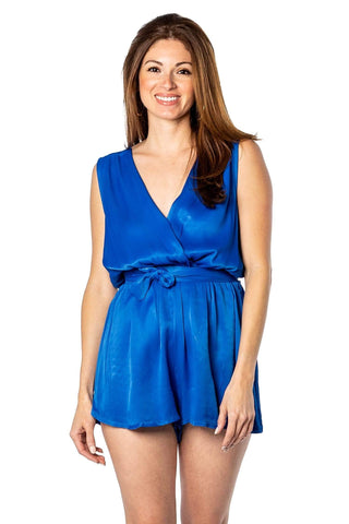 shop-sofia Bella Romper Sofia Collections Italian Silk Linen Satin