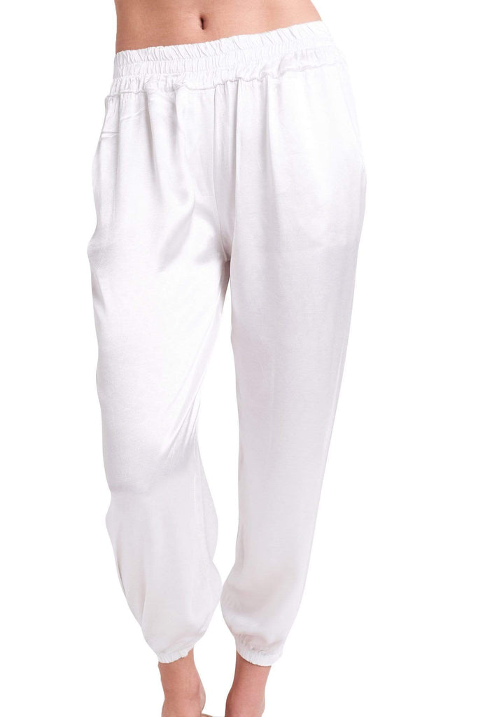 Sofia Collections Brooke Pants Sofia Collections Italian Silk Linen Satin