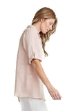shop-sofia Cameron Boyfriend Shirt Sofia Collections Italian Silk Linen Satin