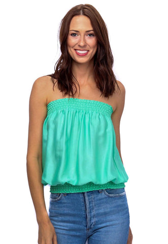 shop-sofia Candy  Tube Top Sofia Collections Italian Silk Linen Satin