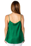shop-sofia Carmelle Tank Top Sofia Collections Italian Silk Linen Satin