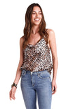 shop-sofia Caroline Cheetah Print Tank Top Sofia Collections Italian Silk Linen Satin
