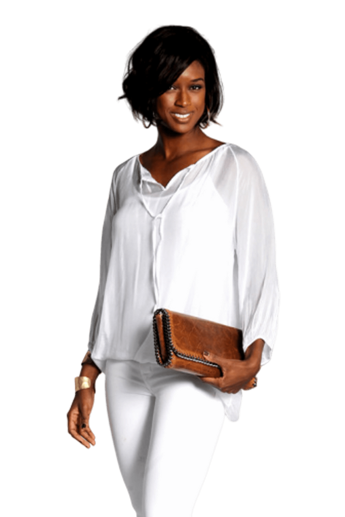 shop-sofia Casey Deep White Top Sofia Collections Italian Silk Linen Satin