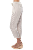 shop-sofia Casey Jogger Sofia Collections Italian Silk Linen Satin
