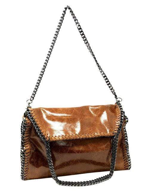 shop-sofia Cassie Congnac Color 2-Way Handbag Sofia Collections Italian Silk Linen Satin