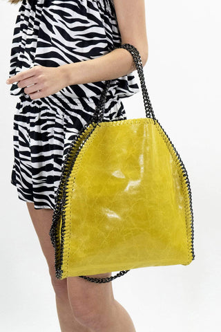 shop-sofia Cassie Yellow Bag Sofia Collections Italian Silk Linen Satin