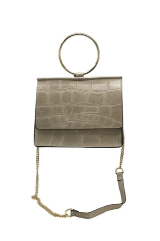 shop-sofia Cole Champagne Emboss Cross Body Bag Sofia Collections Italian Silk Linen Satin