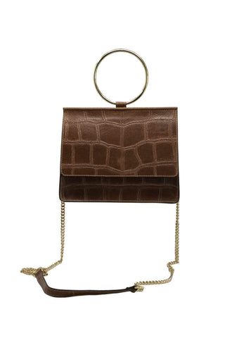 shop-sofia Cole Cognac Emboss Cross Body Bag Sofia Collections Italian Silk Linen Satin