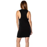 shop-sofia Deep V-Neck Black Dress Sofia Collections Italian Silk Linen Satin
