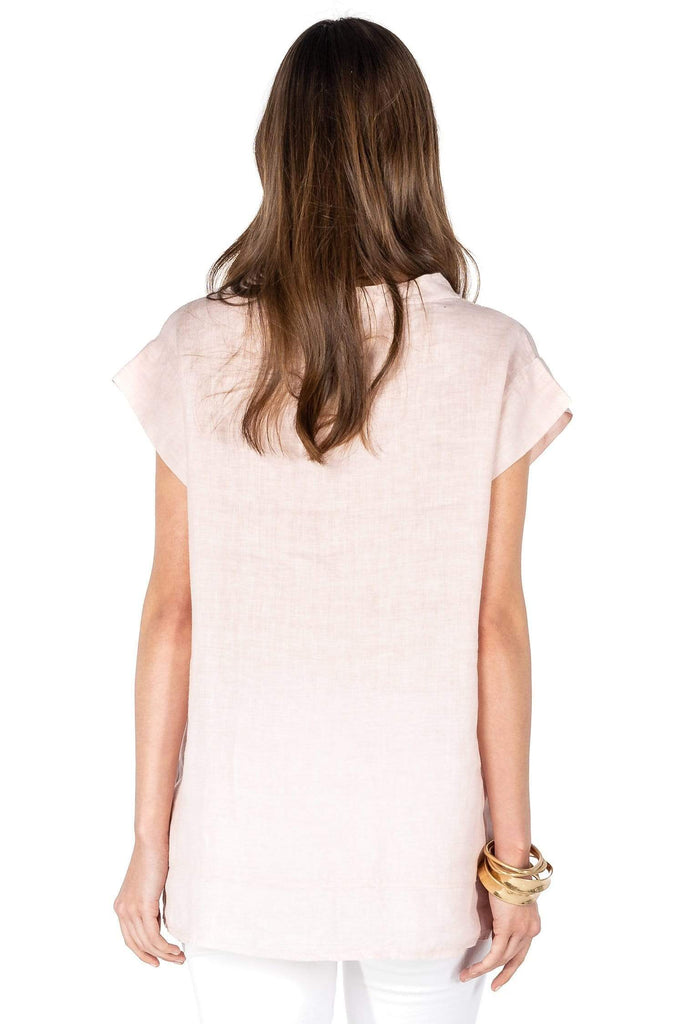 shop-sofia Eden V Top Sofia Collections Italian Silk Linen Satin
