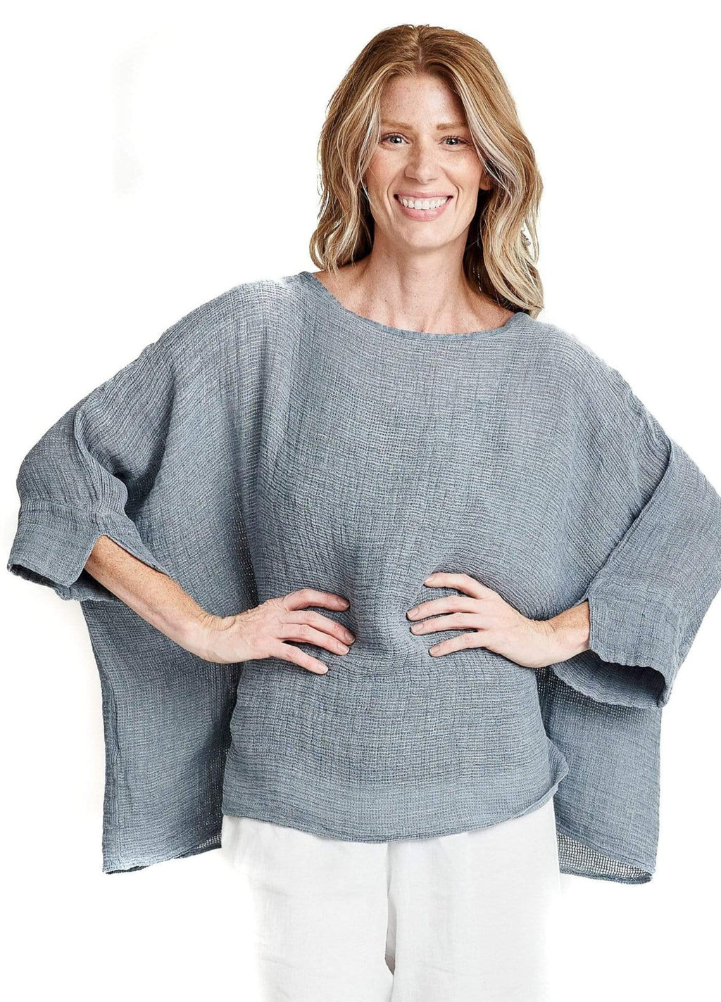 shop-sofia Florence Pull Over Sofia Collections Italian Silk Linen Satin