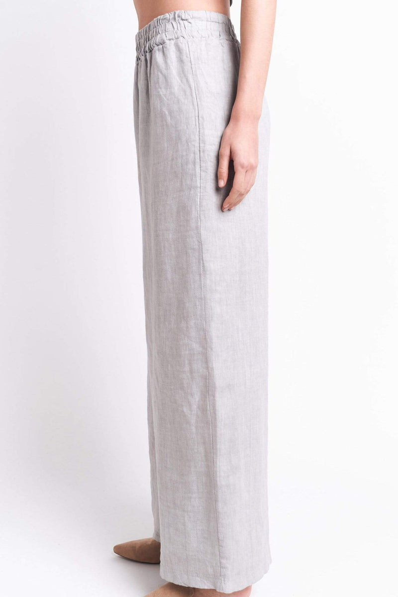 shop-sofia Gray Loose Pant Sofia Collections Italian Silk Linen Satin