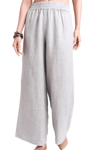 Sofia Collections Gray Loose Pant Sofia Collections Italian Silk Linen Satin