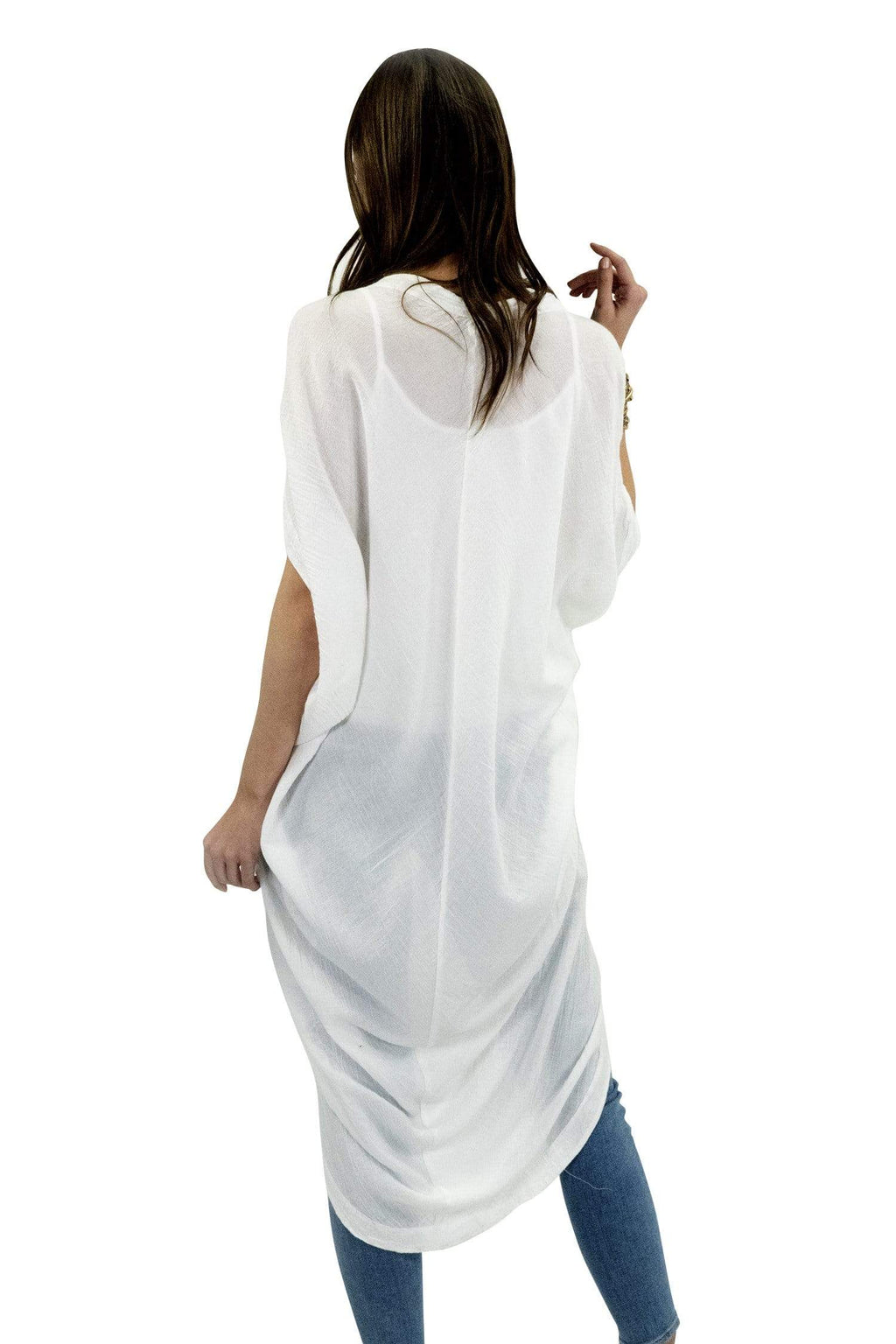 shop-sofia Izzy Tunic Sofia Collections Italian Silk Linen Satin