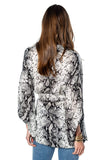 shop-sofia Joyce Grey Snake Print Top Sofia Collections Italian Silk Linen Satin