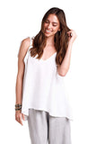 shop-sofia Kay Tank Top Sofia Collections Italian Silk Linen Satin