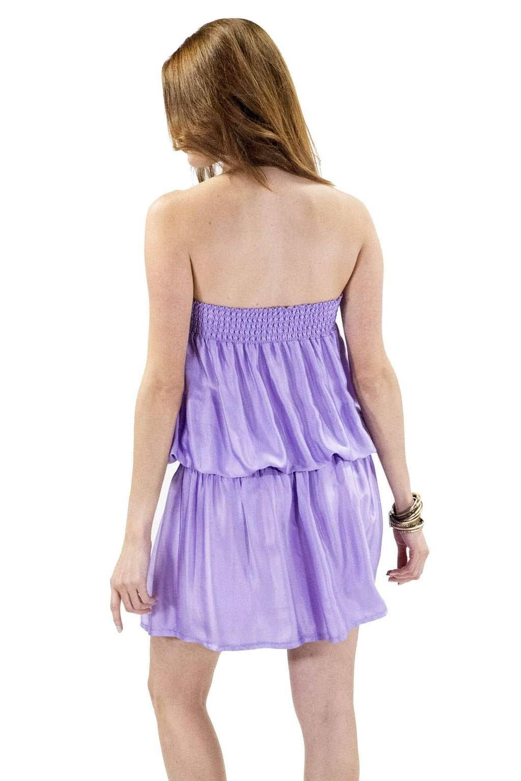 shop-sofia Kim Lilac Tube Dress Sofia Collections Italian Silk Linen Satin