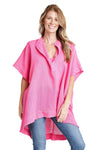 shop-sofia Kirsten Tunic Sofia Collections Italian Silk Linen Satin