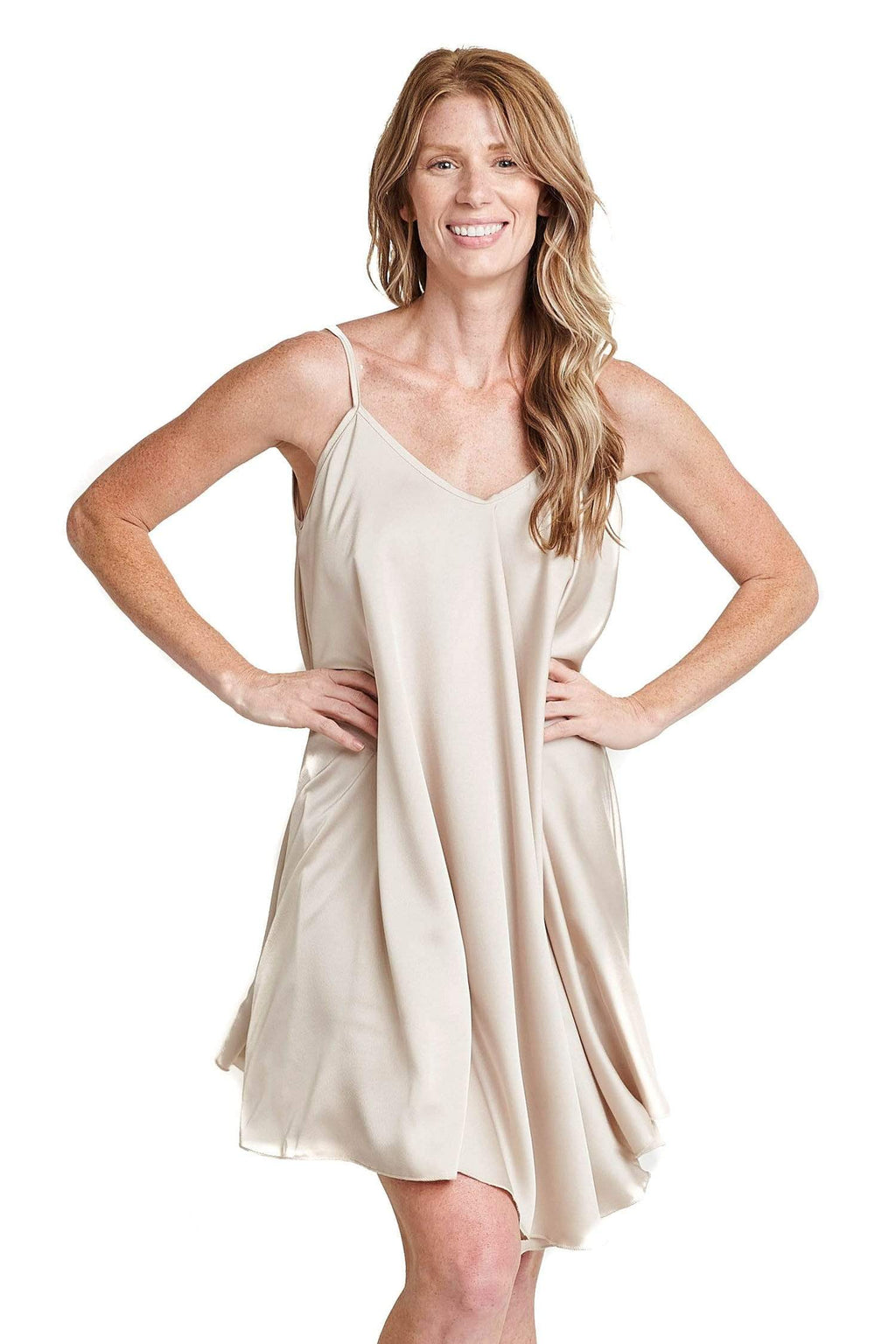 shop-sofia Leila Dress Sofia Collections Italian Silk Linen Satin