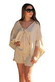 shop-sofia Lucy  Romper Sofia Collections Italian Silk Linen Satin