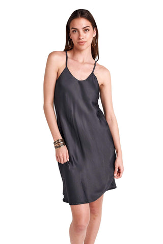 shop-sofia Mara Dress Sofia Collections Italian Silk Linen Satin