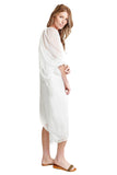 shop-sofia Dresses MARCIA DRESS Sofia Collections Italian Silk Linen Satin