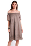 shop-sofia Mary Dress Sofia Collections Italian Silk Linen Satin