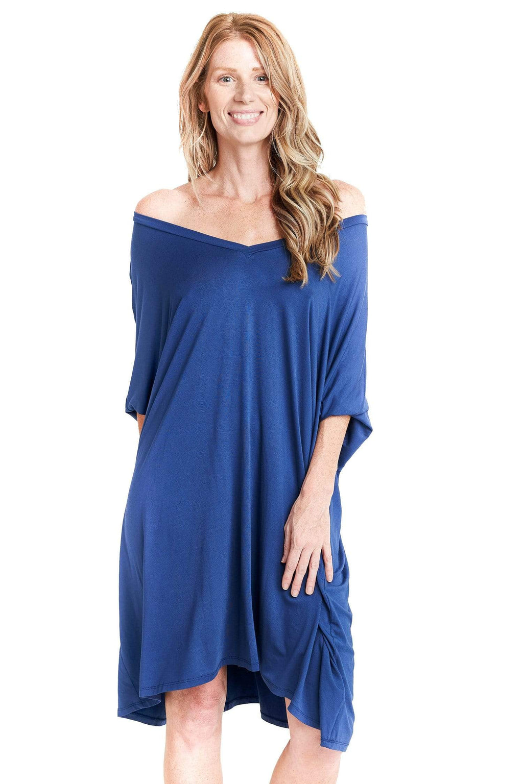 shop-sofia Maxine Denim Dress Sofia Collections Italian Silk Linen Satin