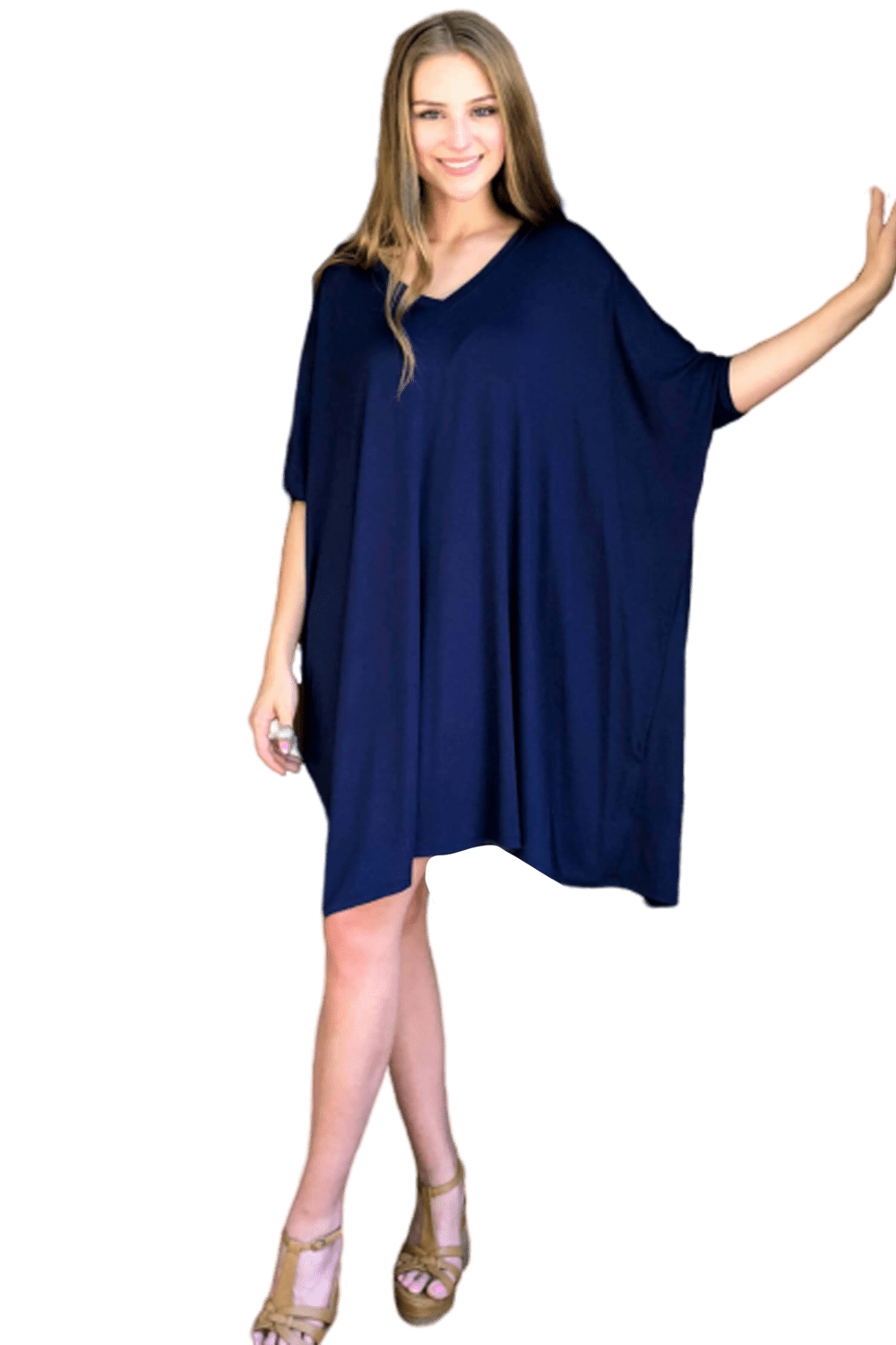 shop-sofia Maxine Navy Dress Sofia Collections Italian Silk Linen Satin
