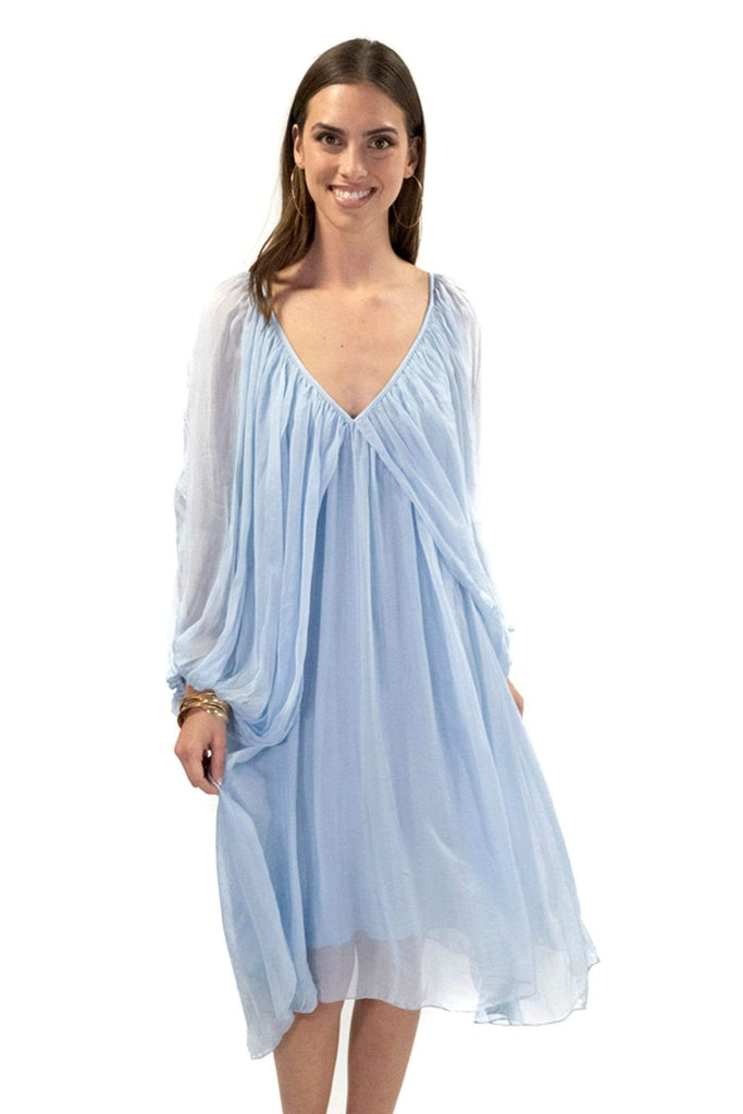 shop-sofia Mercia Dress Sofia Collections Italian Silk Linen Satin