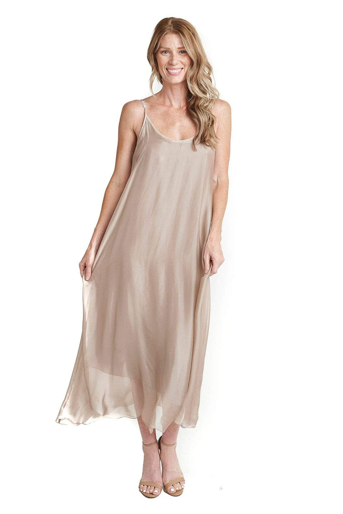 shop-sofia Dresses Mia Dress Sofia Collections Italian Silk Linen Satin