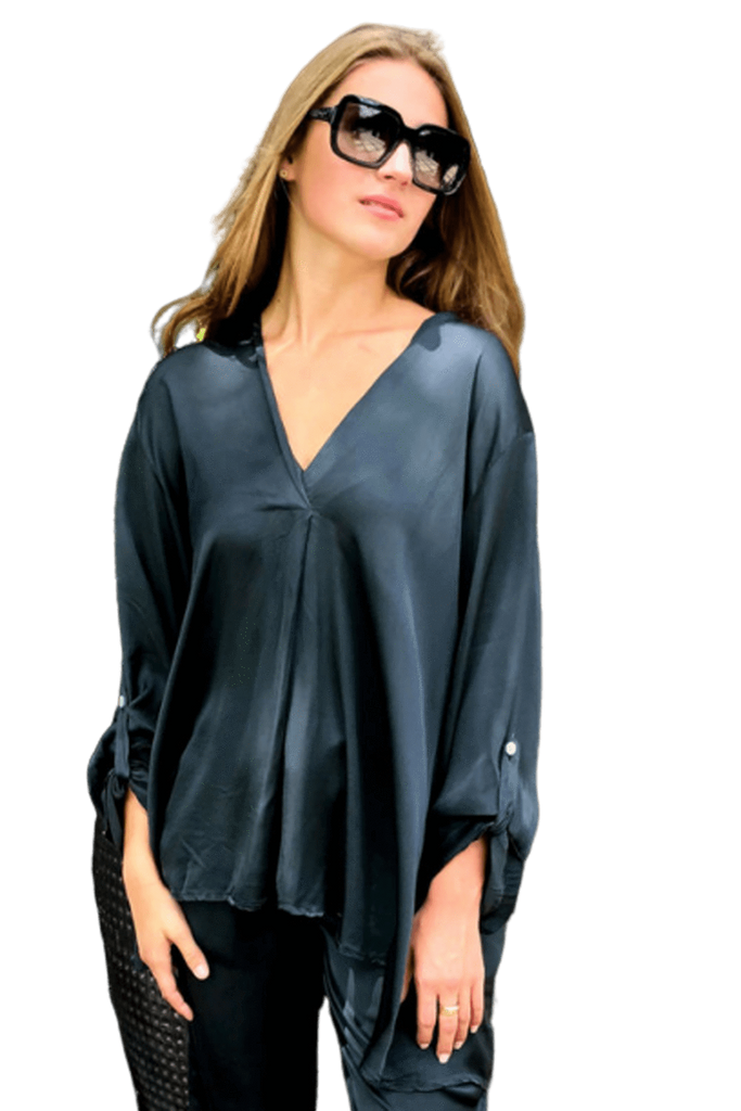 shop-sofia Nicole Top Sofia Collections Italian Silk Linen Satin