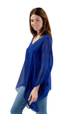 shop-sofia Silk Tops Paula  Top Sofia Collections Italian Silk Linen Satin