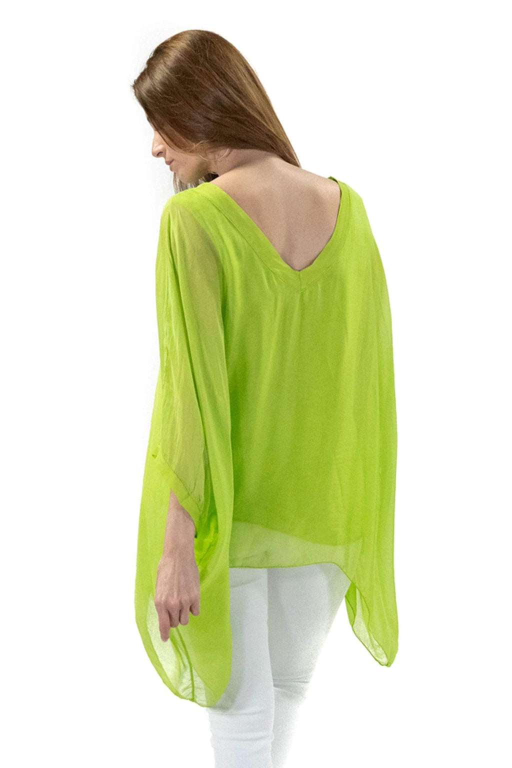 shop-sofia Paula Top Sofia Collections Italian Silk Linen Satin