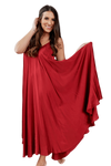 shop-sofia RUBI MAXI DRESS Sofia Collections Italian Silk Linen Satin