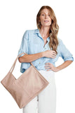 shop-sofia Samantha Bag Sofia Collections Italian Silk Linen Satin
