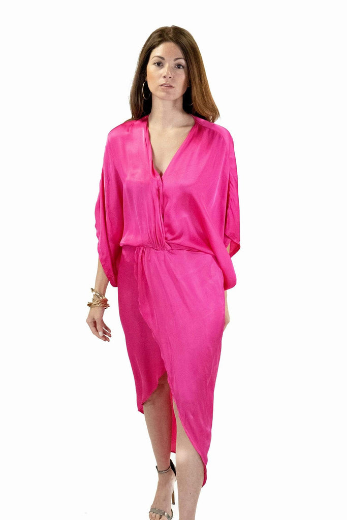shop-sofia Tops Samantha Dress Sofia Collections Italian Silk Linen Satin