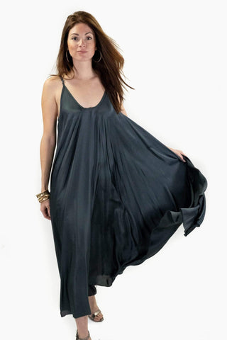 Camila Black Open Slit Maxi