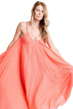 shop-sofia Dresses Coral Sandy Dress Sofia Collections Italian Silk Linen Satin