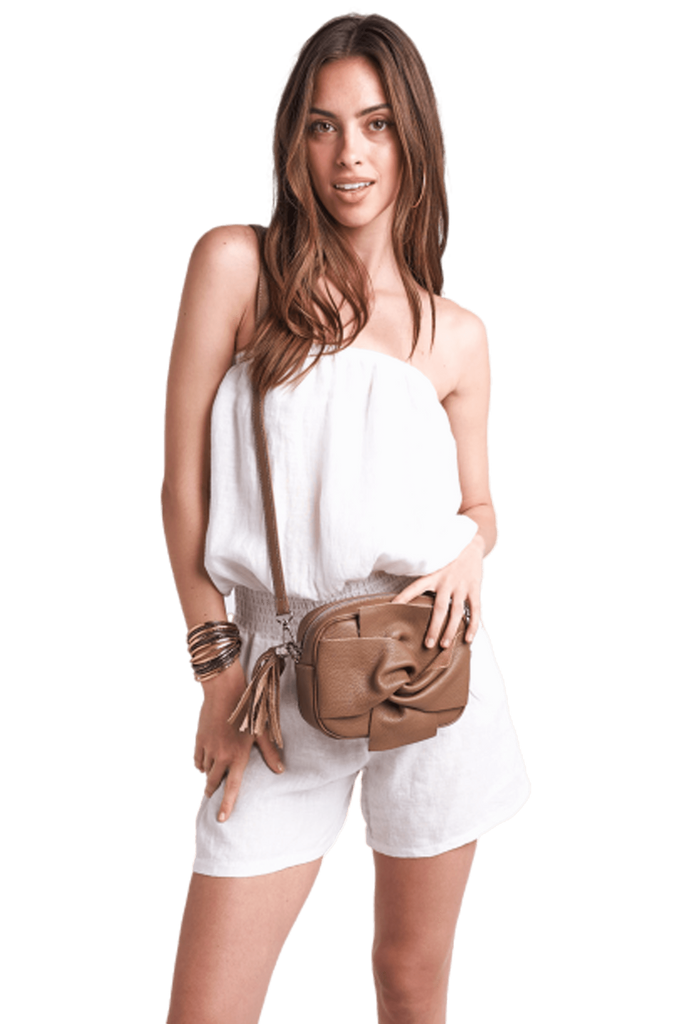 shop-sofia Sling Bag Sofia Collections Italian Silk Linen Satin