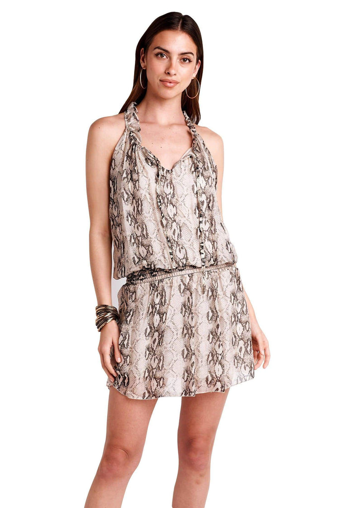 shop-sofia SOFIA MINI DRESSES Sofia Collections Italian Silk Linen Satin