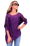 shop-sofia Sofia Purple Top Sofia Collections Italian Silk Linen Satin