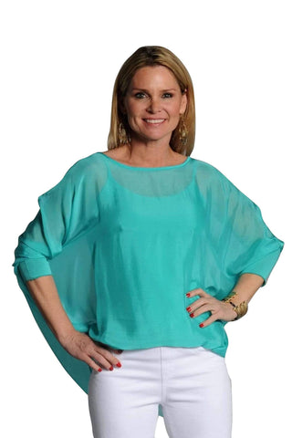 shop-sofia Tops Sofia Top Sofia Collections Italian Silk Linen Satin