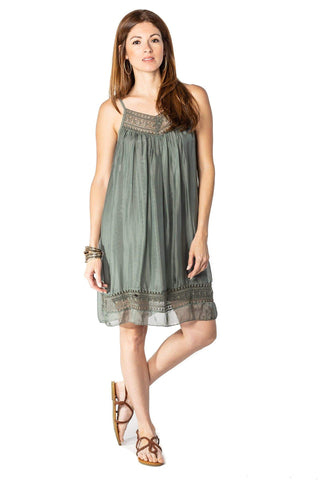 shop-sofia Sony Dress Sofia Collections Italian Silk Linen Satin