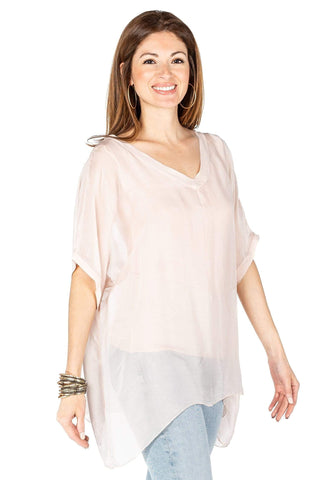 shop-sofia Sophie Beige Top Sofia Collections Italian Silk Linen Satin