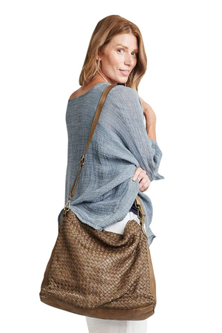 shop-sofia Stella Bag Sofia Collections Italian Silk Linen Satin